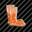 boots, cartoon, protection, rubber, shoe, stylish, waterproof