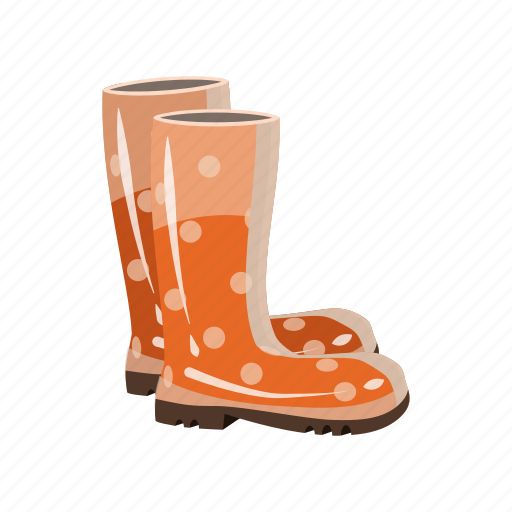 boots, cartoon, protection, rubber, shoe, stylish, waterproof icon