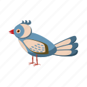bird, cartoon, colorful, feather, jungle, tropical, wildlife icon