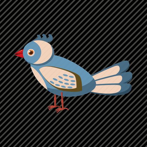 bird, cartoon, colorful, feather, jungle, tropical, wildlife icon
