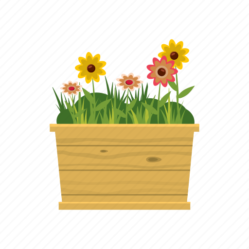Cartoon Flower Garden - Flowers Healthy