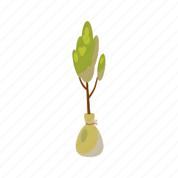 blog, branch, cartoon, environment, nature, plant, seedling icon
