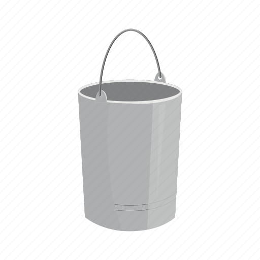 basket, bin, bucket, cartoon, recycle, trashcan, waste icon