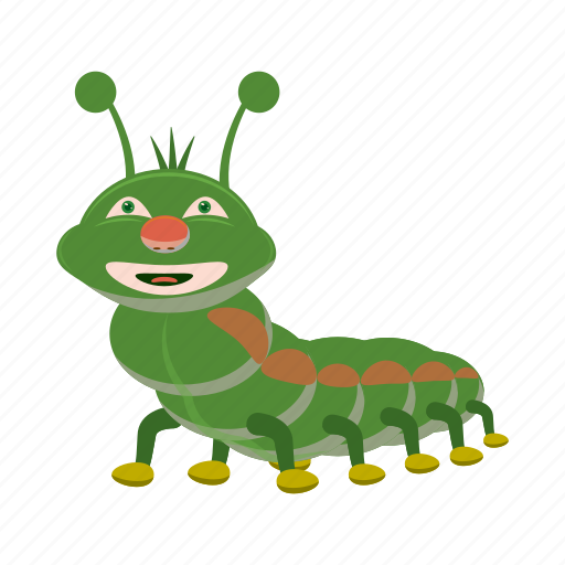 blog, cartoon, caterpillar, character, cute, insect, worm icon