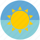 cloudy, date, sun, sunny, weather icon