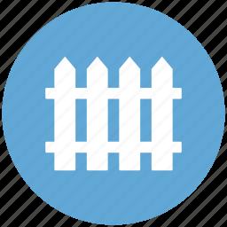 farm, fences, garden, picket fence, protection, railing icon