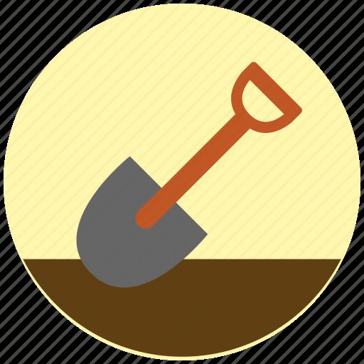 garden, gardening, shovel, shovel tool, soil, tool icon
