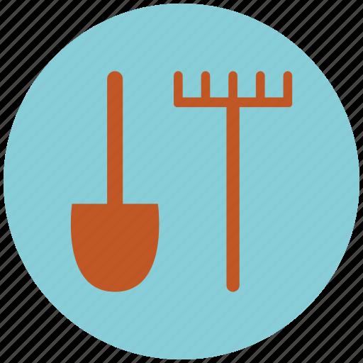 agriculture, farm, garden, gardening tool, shovel, tools icon