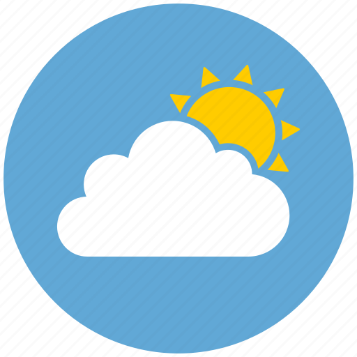 cloud, cloudy, day, sun, sunny, weather icon