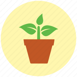 ecology, garden, gardening, germ, growing, growth, plant pot icon