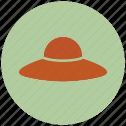 garden, gardening, hat, head, wearing icon