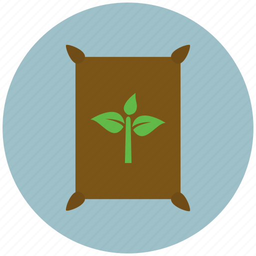 bag, fertilizer, gardening, growing, plant, plants, sack icon