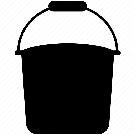 bucket, nature, pail, plant, tank, tub, water icon
