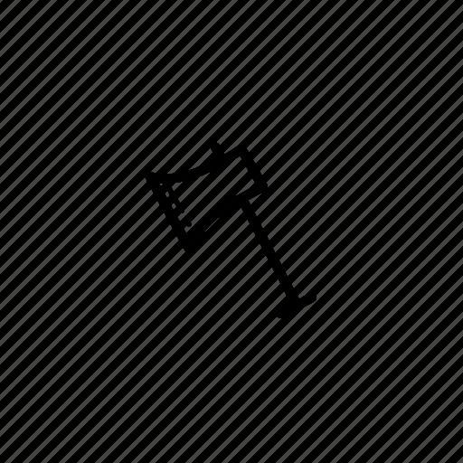 axe, cleaver, equipment, work icon