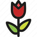 bloom, blossom, floral, nature, plant, spring, tulip icon