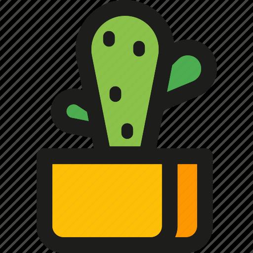 cactus, desk, plant, spring, vase icon