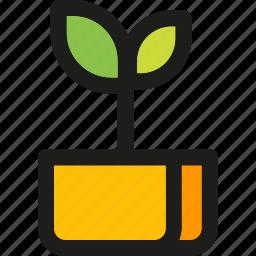 garden, leaf, leaves, plant, spring, vase icon