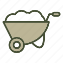 garden, gardening, spring, tool, wheelbarrow icon
