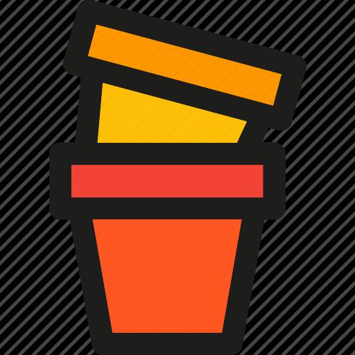 bucket, buckets, garden, gardening, green, plant, pot icon