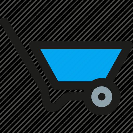 agriculture, barrow, cart, garden, gardening, trolley, wheelbarrow icon