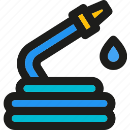 agriculture, farm, garden, gardening, hose, plant, watering icon