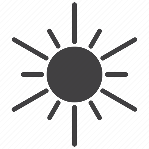 hot, light, sun, sunlight icon