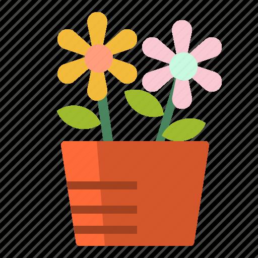 decoration, flower, flowerpot, nature, plant icon