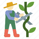 farming, gardening, pruning, scissors, shears icon
