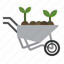 barrow, farming, gardening, tools, wheelbarrow