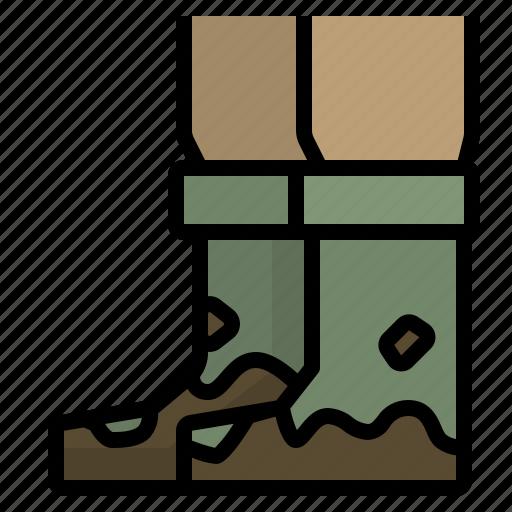 boot, farming, footwear, gardening, rainboots icon