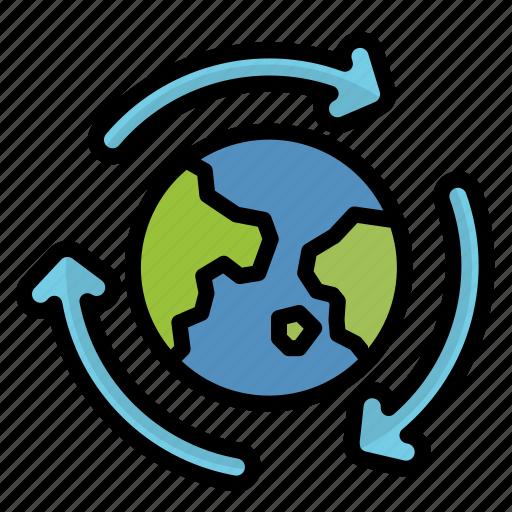 ecology, energy, green, sustainable, world icon