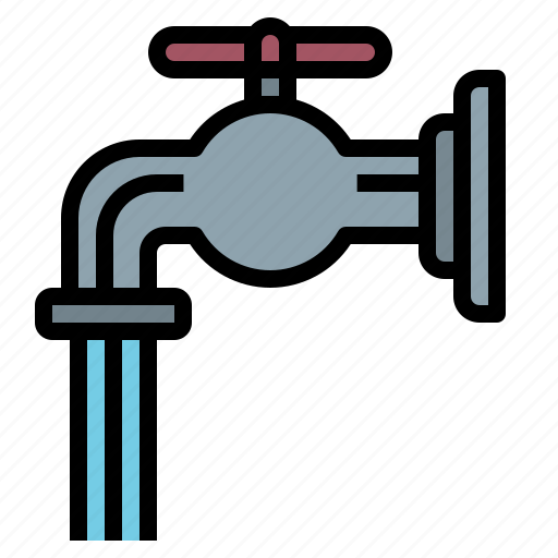 droplet, faucet, furnitureandhousehold, tap, water icon