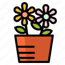 decoration, flower, flowerpot, nature, plant icon