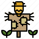character, farming, gardening, rural, scarecrow icon