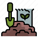 gardening, gardentool, ground, shovel, soil icon