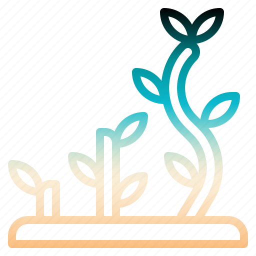 gardening, graph, growing, stats, tree icon