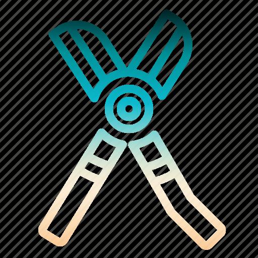 gardening, pruners, scissors, shears, tools icon