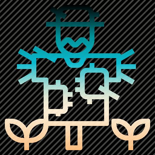 character, farming, gardening, rural, scarecrow icon