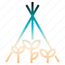 farming, gardening, plant, tripod, veticalgarden icon