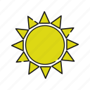 cloud, rain, storage, sun, sunny, weather icon