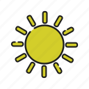 cloud, cloudy, connection, network, rain, sun, weather icon