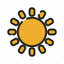 cloud, data, moon, network, sun, weather icon