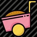 construction, equipment, farm, farming, garden, gardening, wheelbarrow icon