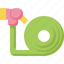 equipment, farming, garden, gardening, hose, water, watering icon