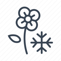 cold, flower, flowering, freeze, frost icon