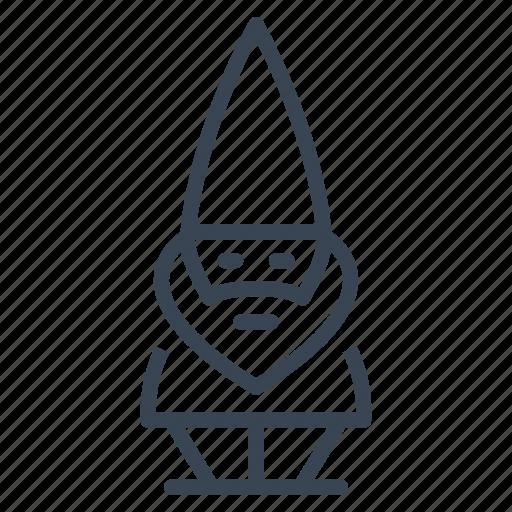 Dwarf, garden, gnome, midget icon