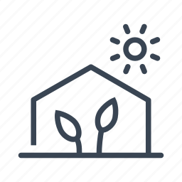 gardening, greenhouse, grow, house, plant icon