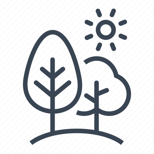 forest, landscape, nature, tree icon
