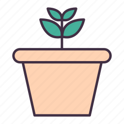 flower, gardening, nature, plant, pot icon