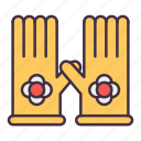 gardening, gloves icon